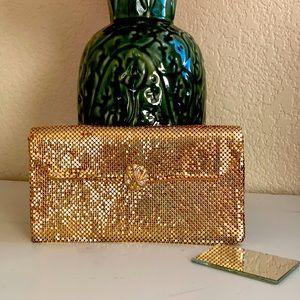 Whiting & Davis gold mesh clutch